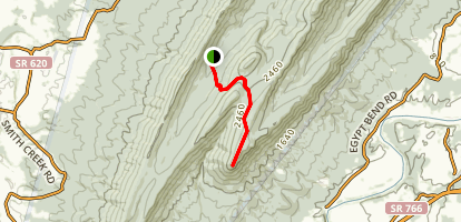 Strickler Knob Trail Map
