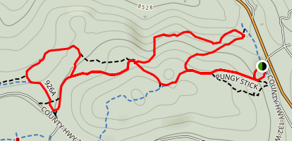 Aspen Alley Trail Loop Map