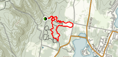 Pittsfield State Forest Area Trails Map