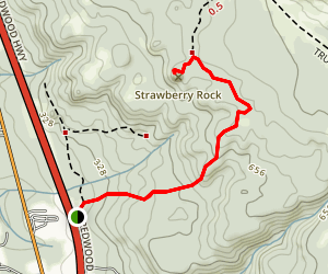 Strawberry Rock Trail Map