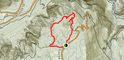 Pohnono Trail to Sentinel Dome Trail Loop Map