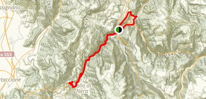 Cerreto and Trponzo Hike Map