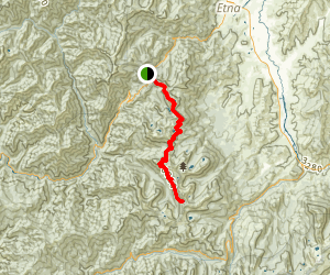 Etna Summit to Bingham Lake Map