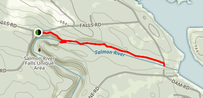 Salmon River Falls -Lower Dam Trail  Map
