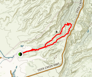 Guardians Trail Via South Rim Trail Loop Map