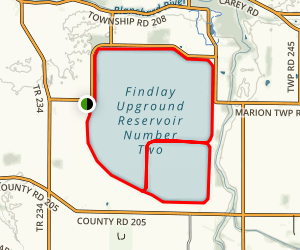 Findlay Reservoir #1 and #2 Map