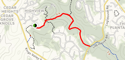 Lower Magruder Trail From Damascus Recreational Park Map
