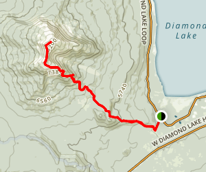 Mount Bailey Trail Via Diamond Lake Map