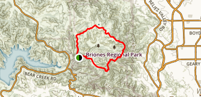 Briones Hills Loop Trail Map