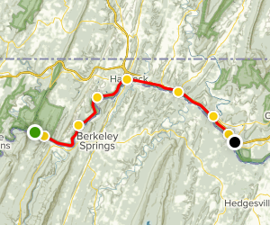 Western Maryland Rail Trail Map