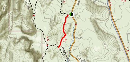 Petrified Dunes Trail Map