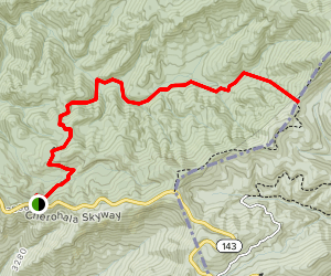 South Fork Citico Trail Map