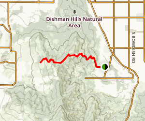 Glenrose Cliff Trails Map