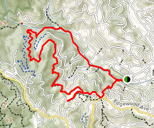 Dipsea Ridge & Tenderfoot Trail Loop Map