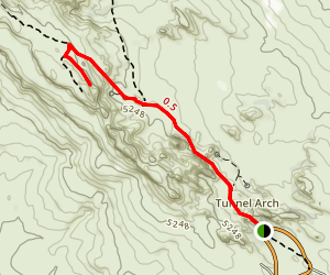 Partition Arch Trail Map