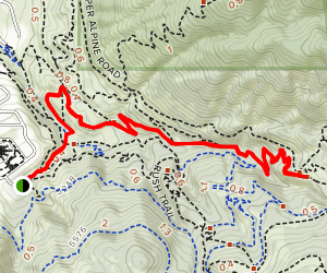 Ghost Falls Trail - Coyote Hollow Map