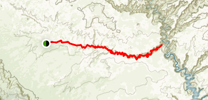 Red Well to Coyote Gulch Map