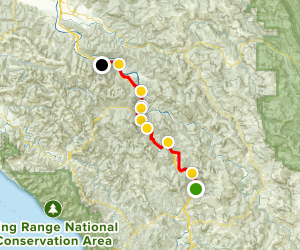 Avenue of the Giants Scenic Drive Map