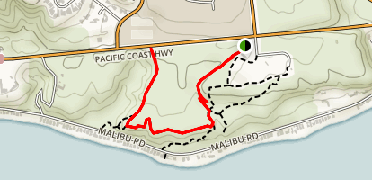 Malibu Bluff Trail Map