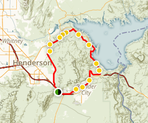 River Mountains Trail Loop Map