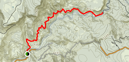 Flume Road Trail Map