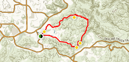 McGinty Mountain Loop Trail Map
