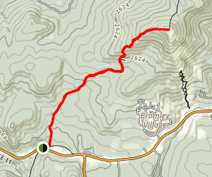 Bromley Mountain Via Long Trail (Appalachian Trail) Map
