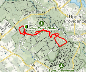 Ridley Creek State Park Yellow Trail Map