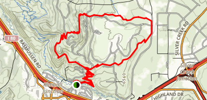 Glenwilde Loop Trail Map