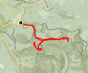Bennett Pass Road Out-and-Back Map