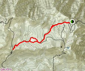 Round Valley Loop trail to Wellmans Divide Map