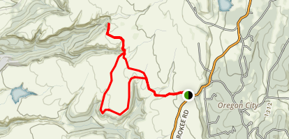 North Table Mountain Ecological Preserve Loop Trail Map
