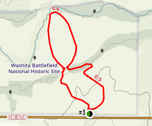 Washita Battlefield Trail Map
