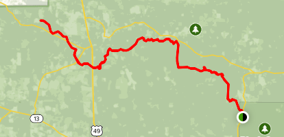 Black Creek Hiking Trail Map
