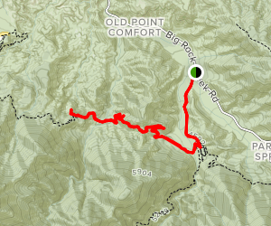 South Fork Road to to Devil's Chair Map