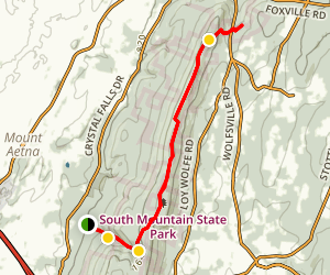 Thurston Griggs Trail to Ensign Phillip Cowall Shelter Map