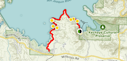 Millerton Lake South Shore Via Blue Oak Trail Map