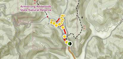 Armstrong Redwoods Grove Loop Trail Map