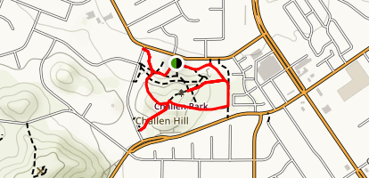 Challen Hill Park Outer Loop Map