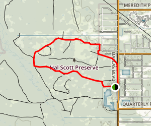 Hal Scott Preserve Area Trails Map