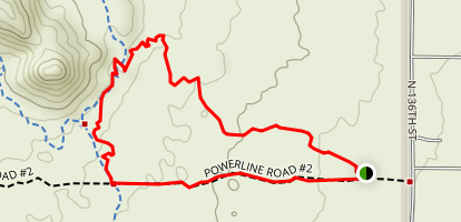 Bootlegger Trail to Powerline Road Loop Map