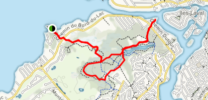 Pointe Aux Carrieres and Ile Bizard Map