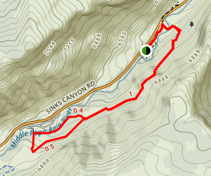 Sinks Canyon Map