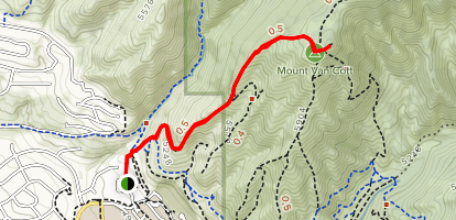 Mount Van Cott Trail Map