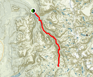 Green River Lakes to Summit Lake Via Highline Trail Map