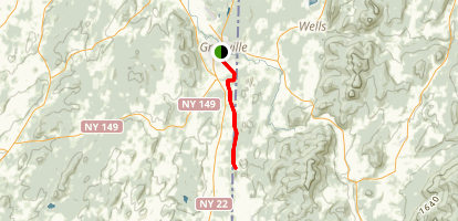Delaware and Hudson Rail-Trail: Granville to West Pawlet Map