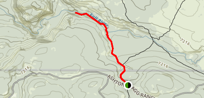 Cascade Creek Trail to Terraced Falls Map