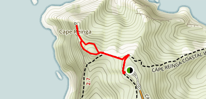 Cape Reinga Lighthouse Trail Map