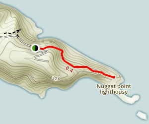 Nugget Point Lighthouse  Map
