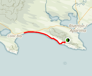 Te Araroa Trail to Colac Bay Map